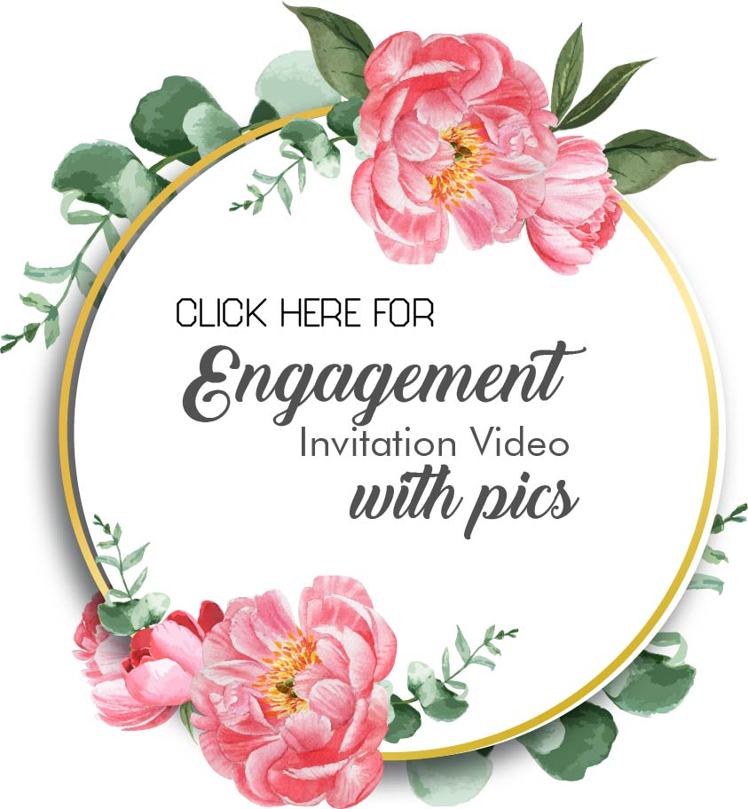 Engagement Invitation Video with photos